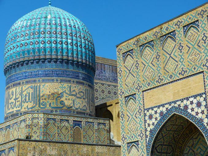La mosquée Bibi Xanom à Samarcande (Ouzbékistan)