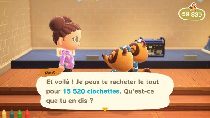 La boutique Nook dans Animal Crossing New Horizons : l'endroit où revendre pour se faire un maximum de clochettes