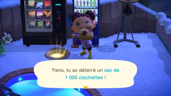 Un sac de 1000 clochettes dans Animal Crossing