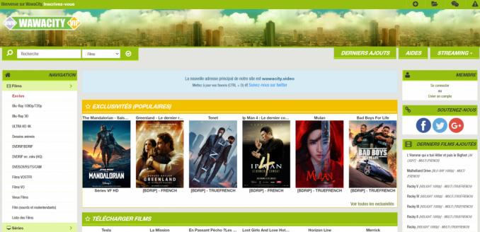 Un des meilleurs sites de streaming gratuit : Wawacity